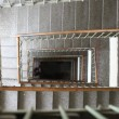 Spiral staircase in apartment building in Belgrade...