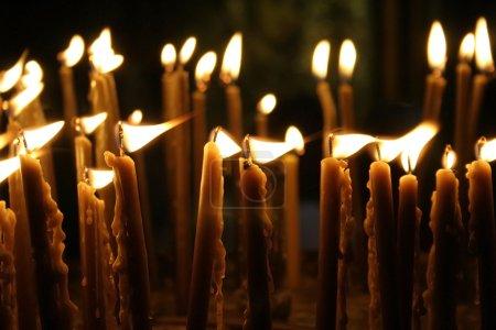 Photo pour Bougies d'église de la Nativité, Bethléem, Cisjordanie, palestine, Israël - image libre de droit