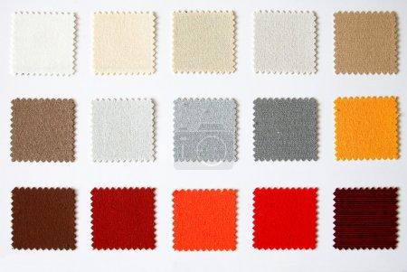 Photo pour Palette de couleurs textile découpe carrée - image libre de droit