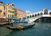 Gondola at Rialto bridge