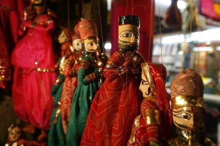 Puppets on display, delhi, india