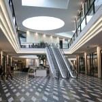 Shopping mall and escalators...