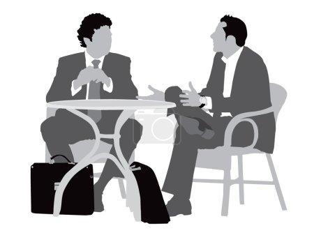 Gentlemen at coffee table