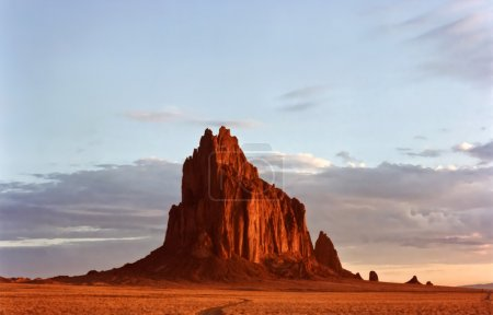 A Fiery Shiprock, New Mexico, at Dawn