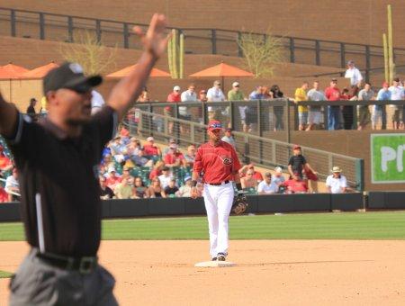 Arizona Diamondbacks Shortstop Ed Rogers Covers Second