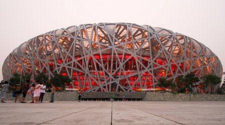 A View of the Olympic National Stadium, Beijing, China
