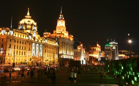 A View of the Bund, Shanghai, China, at Night