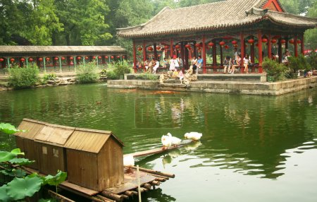 A Scene Inside the Mansion of Prince Gong, Beijing