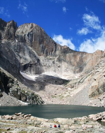 Chasm Lake at the base of Longs Peak, Rocky Mountain National Park, Colorad