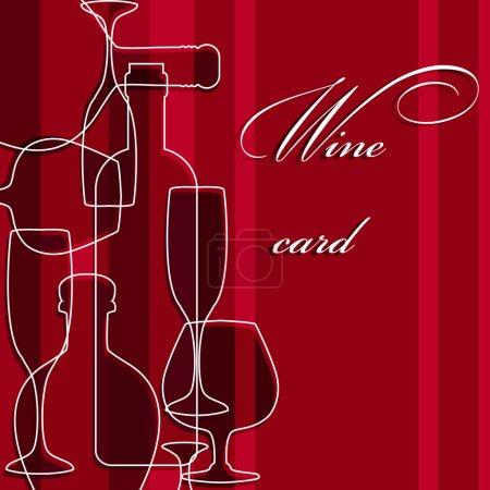 Illustration pour Modèle de carte d'alcool - image libre de droit