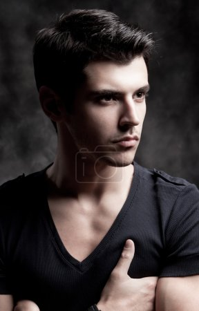 Photo for Trendy European man dressed in contemporary cloth. He is now a professional model. - Royalty Free Image