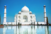 World wonder Taj Mahal in soft daily light