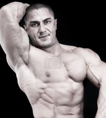 Athletic sexy attractive male body builder