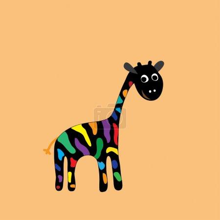 Safari Giraffen Vektor Illustration