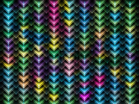 Multicolor crystal background