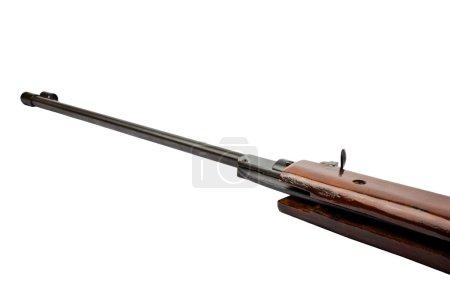 Photo pour Vieux fusil de chasse isolé sur blanc - image libre de droit