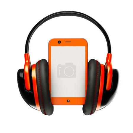 Pda with headphones