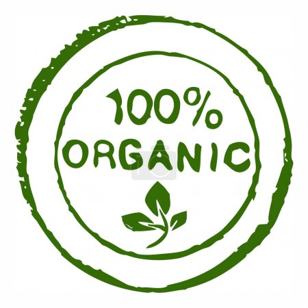 Hundred percent organic stamp