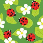 Vector pattern ladybug