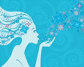 Woman flower blue 2