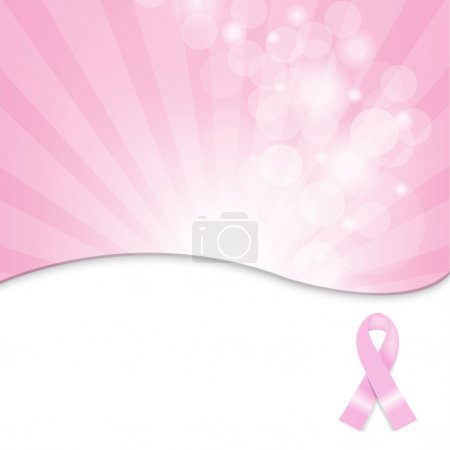 Pink Breast Cancer Ribbon Background