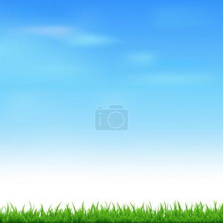 Illustration pour Paysage avec herbe, Illustration vectorielle - image libre de droit