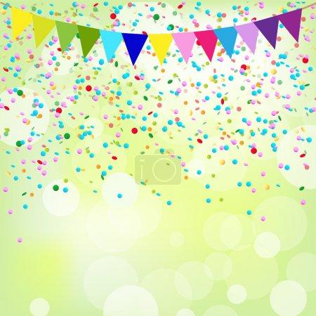 Illustration pour Affiche d'anniversaire, fond vectoriel - image libre de droit