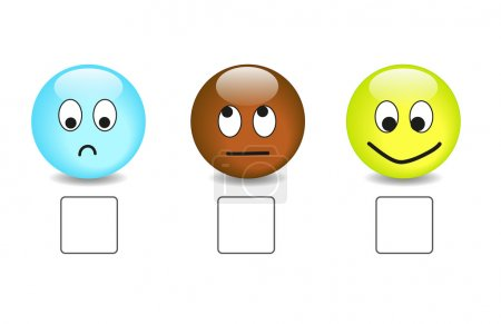 Satisfaction questionnaire with emoticons