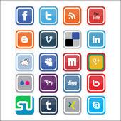 Vector Social Media Icons 3