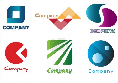 Photo for Six business vector logos. - Royalty Free Image