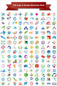This is a set of vector logo & design elements 160 pieces suitable for several projects Full editable