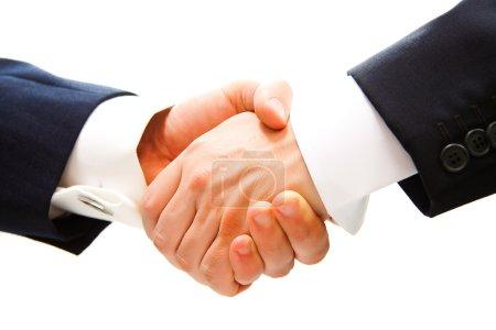 Handshake of business partner