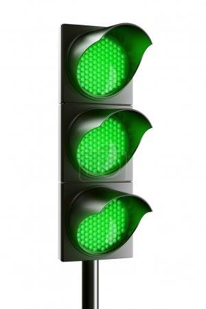 Photo pour Rendus 3D fg un vert tout trafic léger - image libre de droit