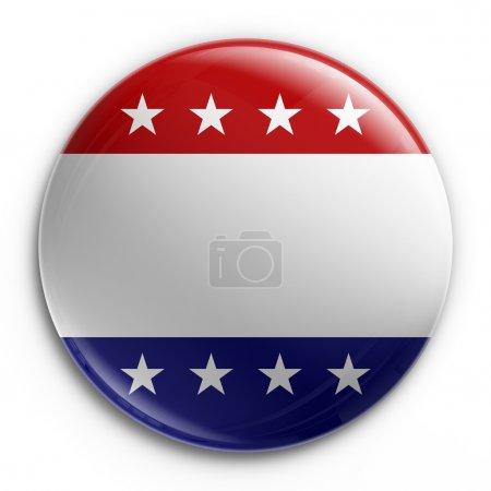 Photo pour 3d rendu d'un badge pour l'élection présidentielle de 2008, vide afin que votre propre texte puisse être ajouté - image libre de droit