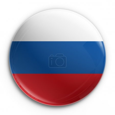 Photo for 3d rendering of a badge with the Russian flag - Royalty Free Image
