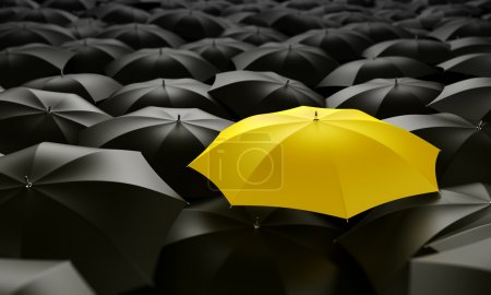Photo for 3d rendering of a sea of umbrellas - Royalty Free Image