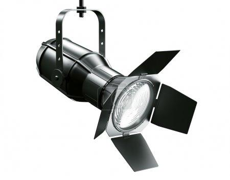 Photo pour 3d rendu d'un projecteur sur un fond blanc - image libre de droit
