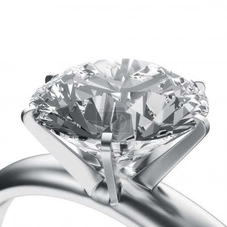 Photo for 3d rendering of a diamond ring - Royalty Free Image