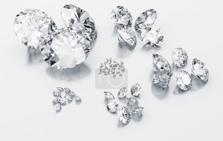 Diamonds sorted according to size