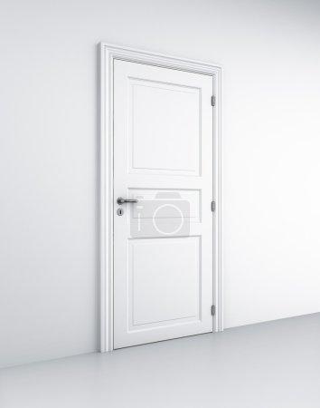 Door in white room