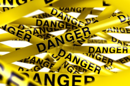 Danger caution tape