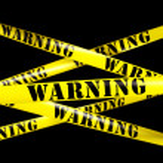 3d rendering of WARNING tape....