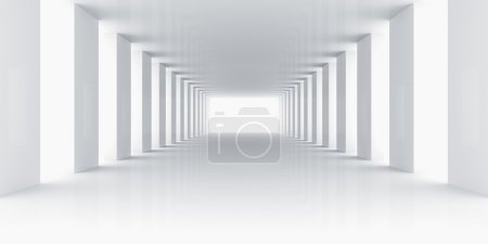 Photo pour Rendu 3d d'une pièce blanche vide - image libre de droit