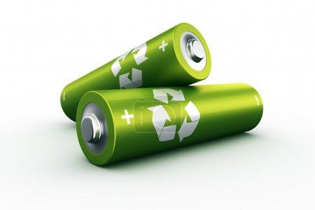 Photo pour Rendu 3d d'un deux piles vertes - image libre de droit