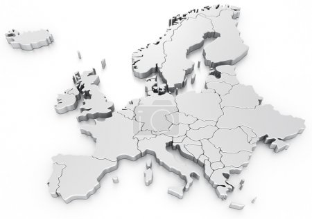 Photo for 3d rendering of a map of Europe - Royalty Free Image