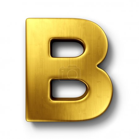The letter B in gold