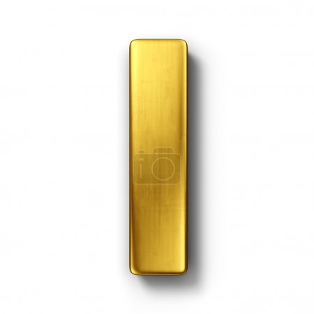 The letter I in gold