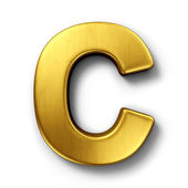 The letter C in gold