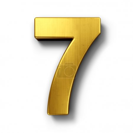 The number 7 in gold