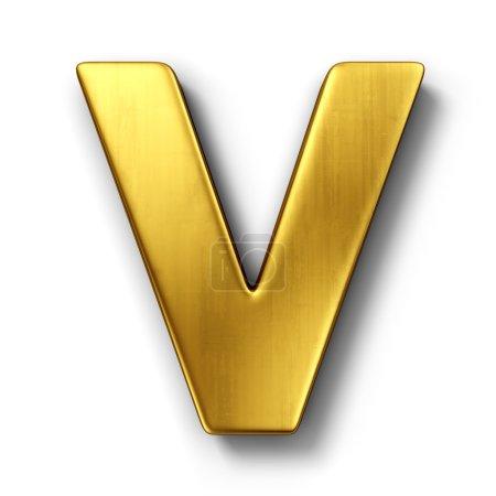 La letra V en oro